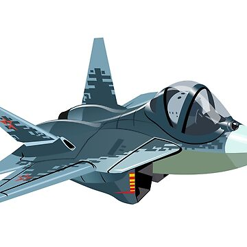 Cartoon Military Stealth Jet Fighter Plane Isolated by Mechanick