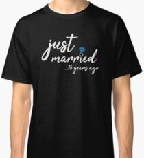 16th Wedding Anniversary Gifts - Just Married 16 Years  Classic T-Shirt