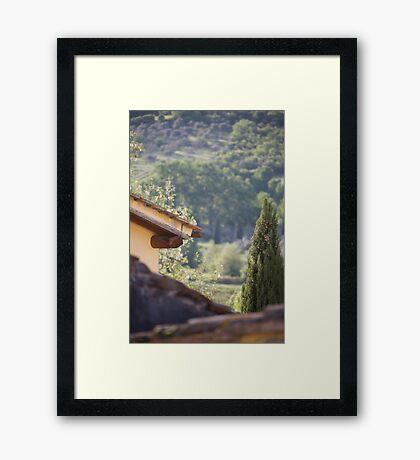 tuscan roofs Framed Print