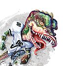 Smash Mouth Dinosaur Football Player by MudgeStudios
