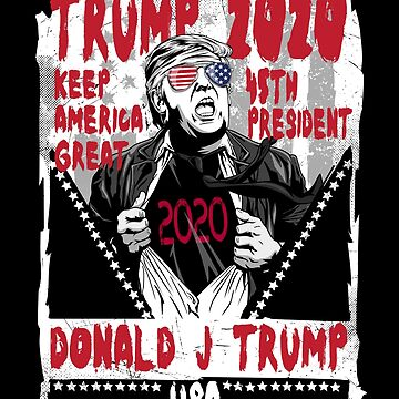 Donald Trump 2020 Fight Poster Election Keep America Great by TheTeeSupplyCo