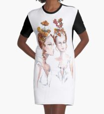 Marchesa Crowns Graphic T-Shirt Dress