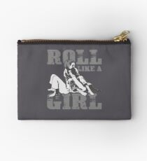 Roll Like A Girl Art | Cute Brazilian Martial Arts Gift Studio Pouch