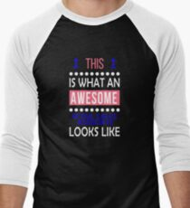 Retail Sales Associate Awesome Looks Funny Birthday Christmas  Men's Baseball ¾ T-Shirt