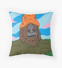 Sassy The Sasquatch Throw Pillow