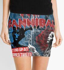 Hannibal the Cannibal - Vintage B-Movie Poster Mini Skirt