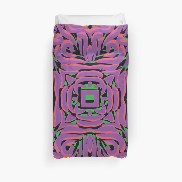 Pink Flourish Swirly Mandala Duvet Cover