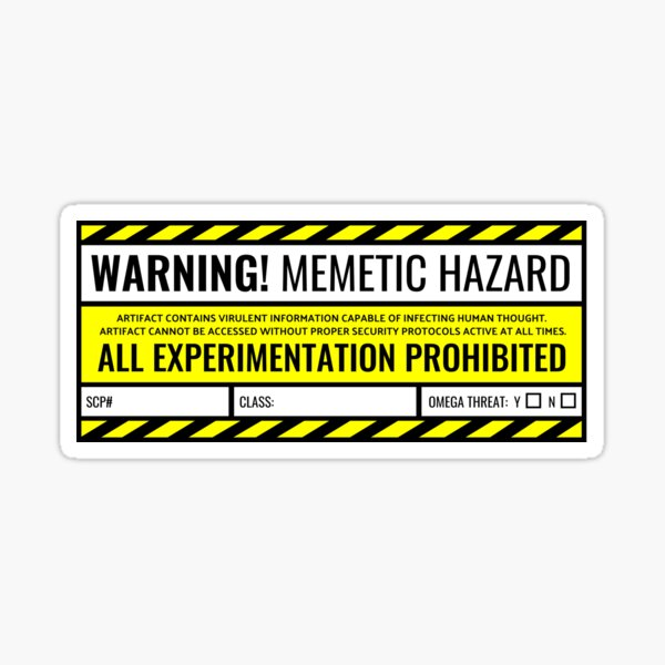 SCP - Memetic Hazard Sticker