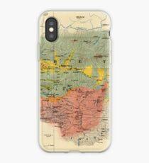 Vintage Geological Map of The Mount Everest Region (1921) iPhone Case