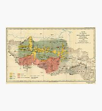 Vintage Geological Map of The Mount Everest Region (1921) Photographic Print