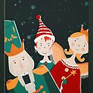 A nutcracker, a naughty elf, and a fairy came to visit by Sybille Sterk