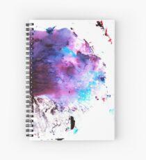 Purple and Blue abstract Cuaderno de espiral
