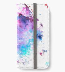 Purple and Blue abstract Funda o vinilo para iPhone