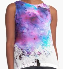Purple and Blue abstract Contrast Tank