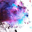 «Purple and Blue abstract» de belettelepink