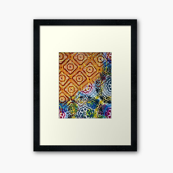 Oil and Water Framed Art Print