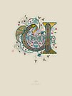 Celtic Initial U by Thoth Adan