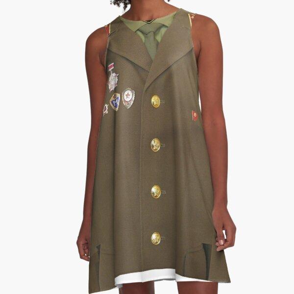 Soviet army A-Line Dress