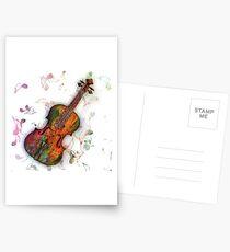 violin Postcards