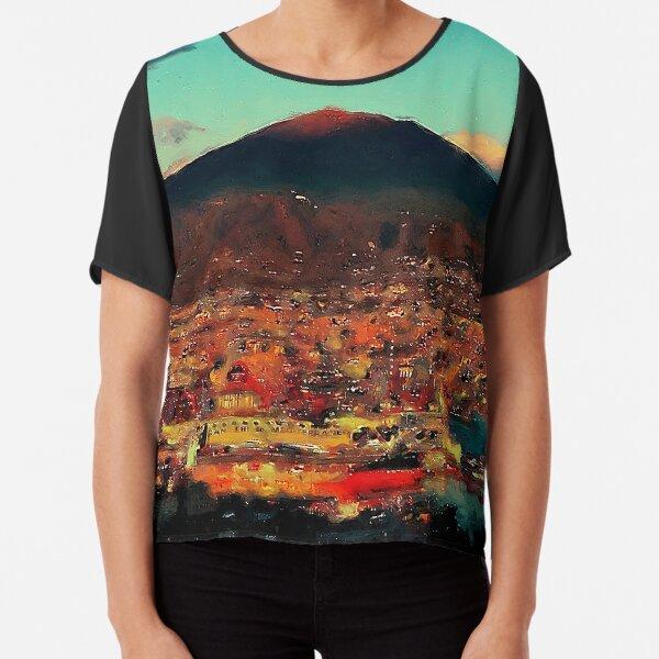 Vesuvio, panorama from Naples Chiffon Top