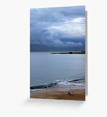 fisherman and the clouds... Greeting Card