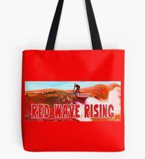 Red Wave Rising Tote Bag