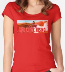 Red Wave Rising Women's Fitted Scoop T-Shirt