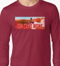 Red Wave Rising Long Sleeve T-Shirt