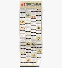 49 Tricky Words with Multiple Meanings (unbranded) Poster