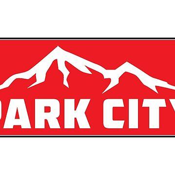 PARK CITY UTAH MOUNTAINS SKIING SKI SNOWBOARD CAMPER BIKE DECAL by MyHandmadeSigns