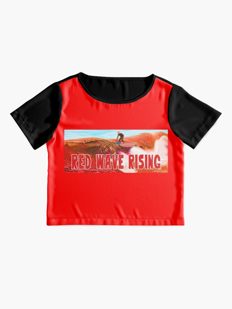 Alternate view of Red Wave Rising Chiffon Top