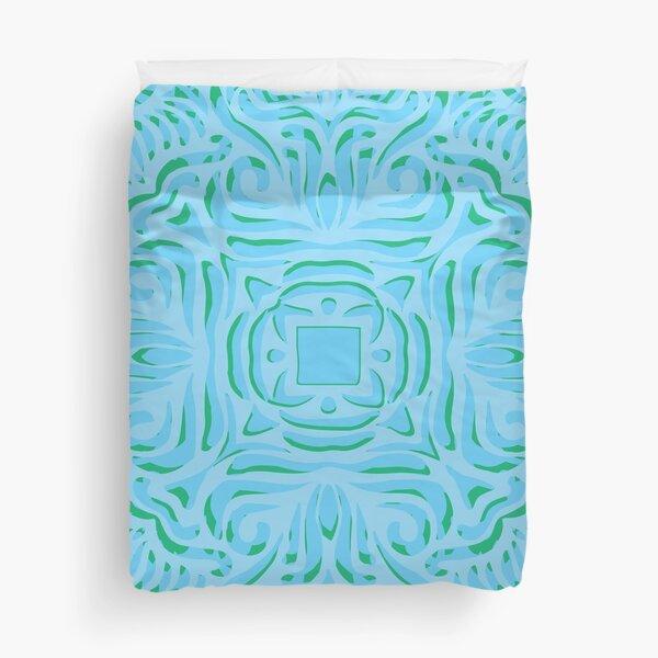 Sea Breeze Swirly Mandala Duvet Cover