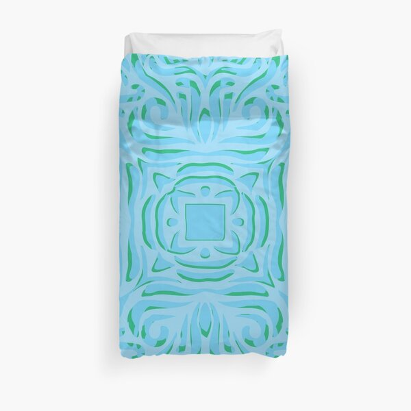 Sea Breeze Swirly Mandala Duvet Cover