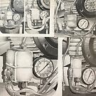 My time drawing out in the garage . . . . by evon ski