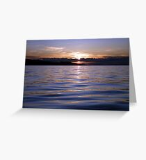 Island Sunset Greeting Card
