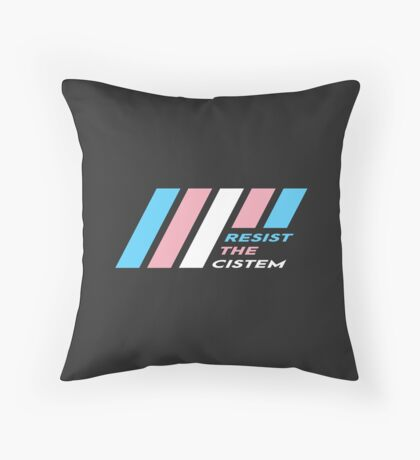 Pride Stripe: Resist The Cistem Floor Pillow