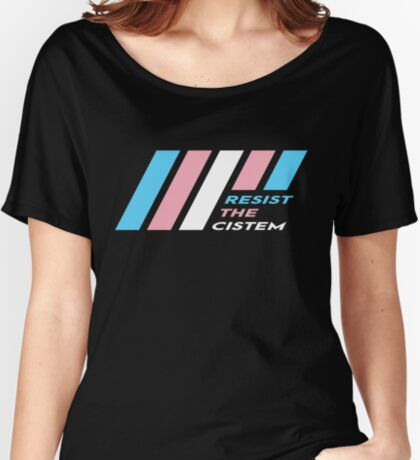 Pride Stripe: Resist The Cistem Relaxed Fit T-Shirt