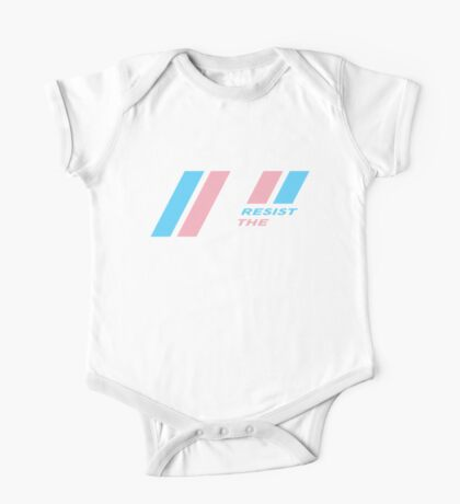 Pride Stripe: Resist The Cistem Kids Clothes