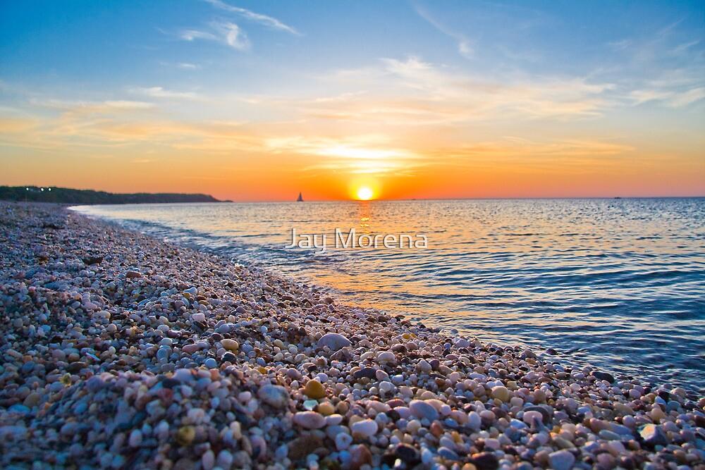 Rocks and Sky - Cedar Beach, Long Island, New York by Jay Morena