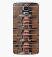 Jim Halpert Smiling Through Blinds Case/Skin for Samsung Galaxy