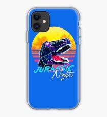 JURASSIC NIGHTS - Miami Vice Vapor Synthwave T-Rex iPhone Case