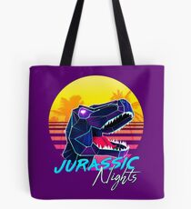 JURASSIC NIGHTS - Miami Vice Vapor Synthwave T-Rex Tote Bag