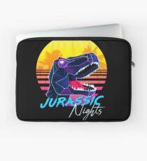 JURASSIC NIGHTS - Miami Vice Vapor Synthwave T-Rex Laptop Sleeve