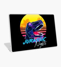 JURASSIC NIGHTS - Miami Vice Vapor Synthwave T-Rex Laptop Skin
