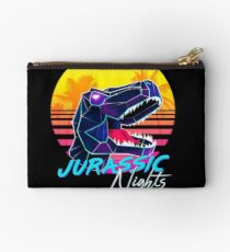 JURASSIC NIGHTS - Miami Vice Vapor Synthwave T-Rex Zipper Pouch