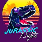 JURASSIC NIGHTS - Miami Vice Vapor Synthwave T-Rex by forge22