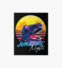 JURASSIC NIGHTS - Miami Vice Vapor Synthwave T-Rex Art Board Print