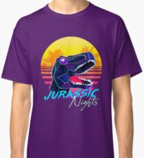 JURASSIC NIGHTS - Miami Vice Vapor Synthwave T-Rex Classic T-Shirt