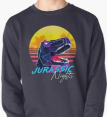 JURASSIC NIGHTS - Miami Vice Vapor Synthwave T-Rex Pullover