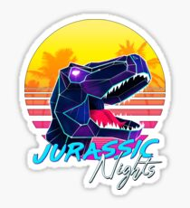 JURASSIC NIGHTS - Miami Vice Vapor Synthwave T-Rex Sticker